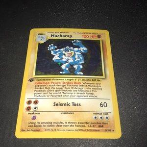 Machamp 1st Edition Pokémon Card (NM)